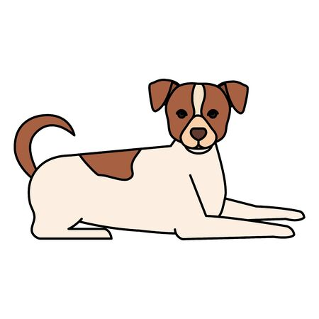 white dog with brown spotted isolated icon vector illustration design 向量圖像