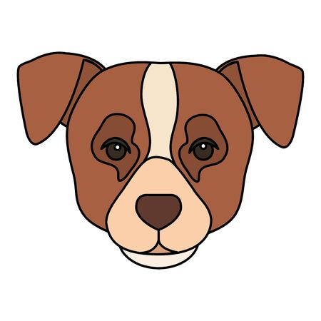 face of brown dog with white spot isolated icon vector illustration design