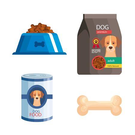 bundle of pet shop icons vector illustration design Ilustrace