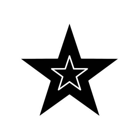 silhouette of star decoration christmas isolated icon vector illustration design Stock Illustratie
