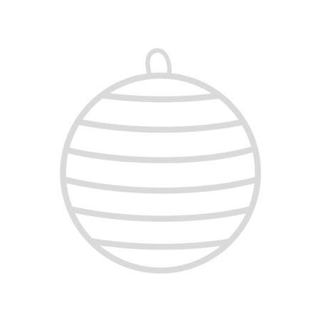 ball christmas decoration line style icon vector illustration design