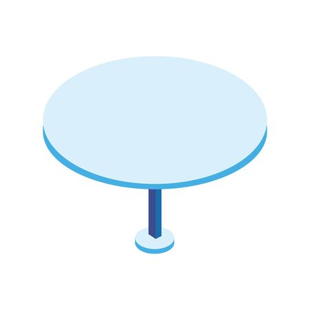 table round furniture isolated icon vector illustration design