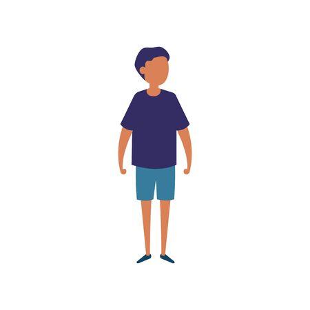 cute boy avatar character icon vector illustration design