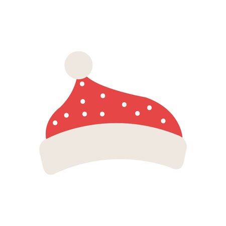 christmas hat accessory isolated icon vector illustration design
