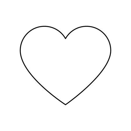 cute heart love line style icon vector illustration design Ilustrace