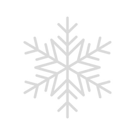 snowflake christmas decoration line style vector illustration design