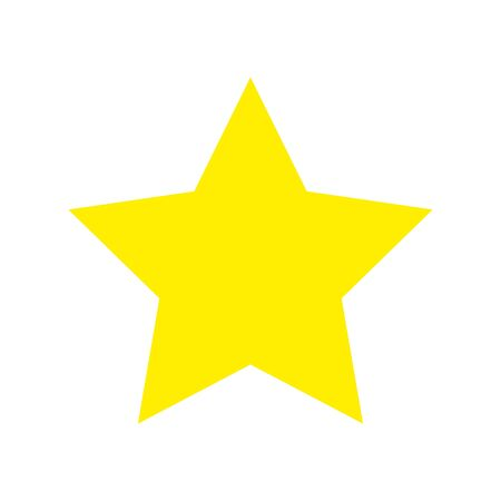 star yellow color isolated icon vector illustration design