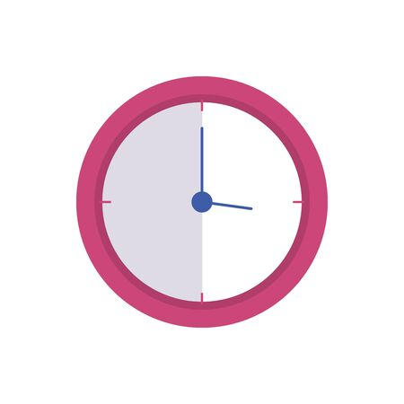 clock wall time isolated icon vector illustration design Ilustrace