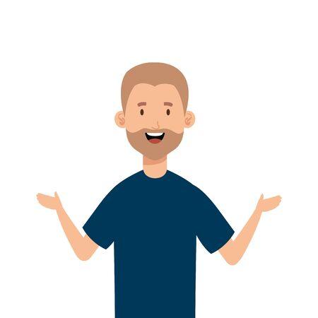 young man with beard avatar character vector illustration design Stok Fotoğraf - 140703587