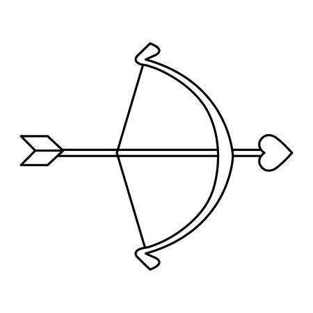 arch cupid with arrow isolated icon vector illustration design Ilustração