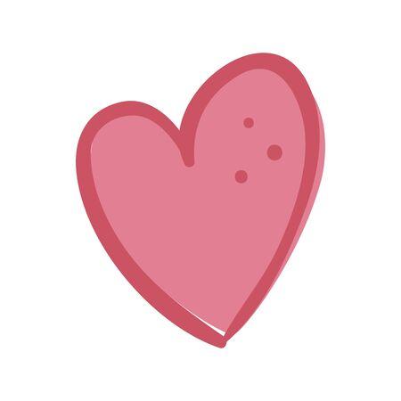 cute heart love isolated icon vector illustration design