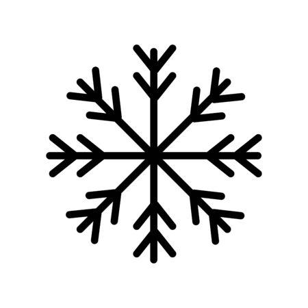 snowflake christmas decoration isolated icon vector illustration design Stock Illustratie