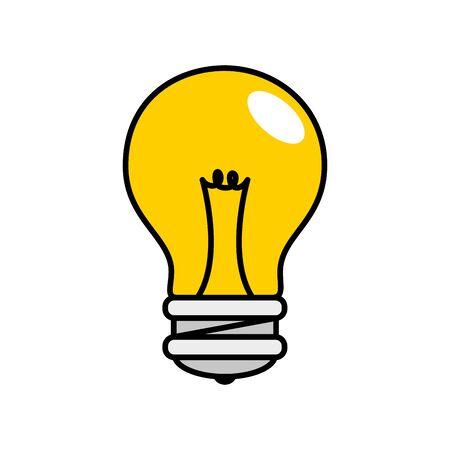 light bulb pop art style icon vector illustration design