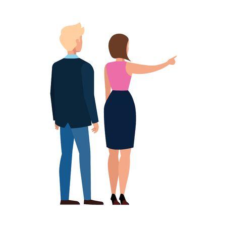 Woman and man avatar design, Person people human profile and user theme Vector illustration Ilustração