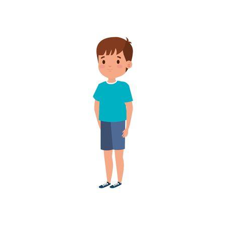 cute little boy avatar character vector illustration design Ilustração