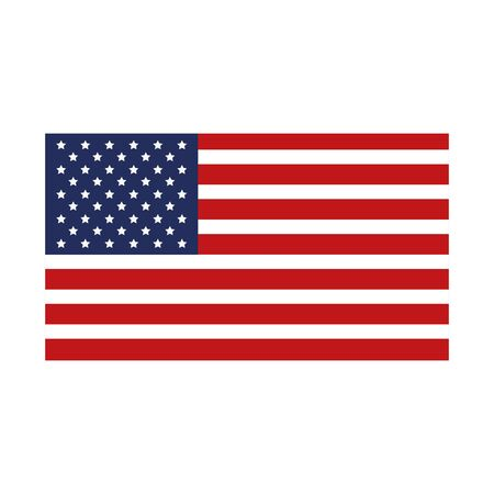 united states flag isolated icon vector illustration design  イラスト・ベクター素材