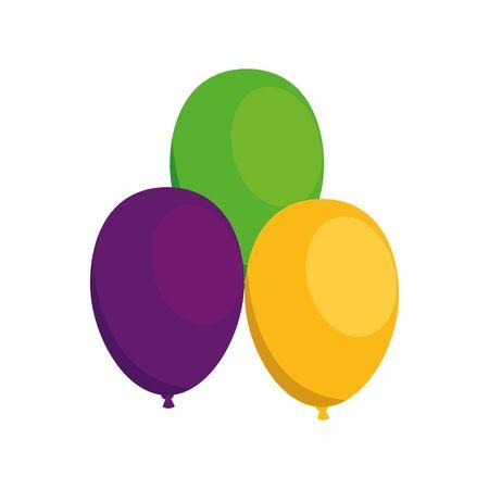 Balloons design, Party celebration entertainment holiday fun birthday decoration and joy theme Vector illustration Ilustrace