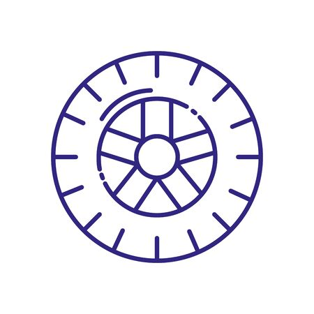 Wheel icon design, Transportation travel trip urban motor speed fast automotive and driving theme Vector illustration  イラスト・ベクター素材