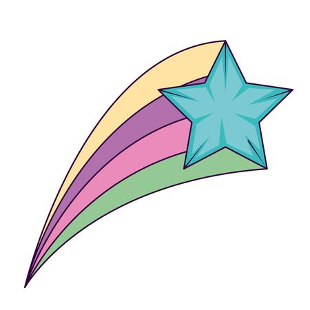 cute shooting star magic icon vector illustration design 向量圖像