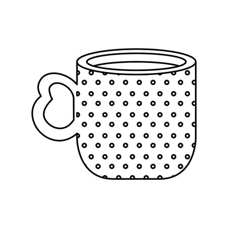 cup coffee delicious isolated icon vector illustration design Vettoriali