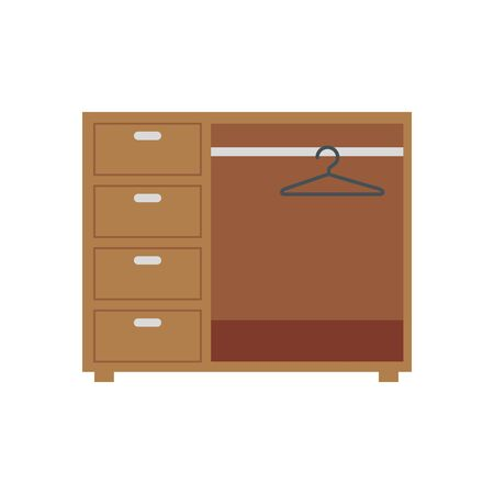 Closet urniture design, Home room decoration interior living building apartment and residential theme Vector illustration