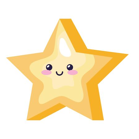 cute star magic style icon vector illustration design