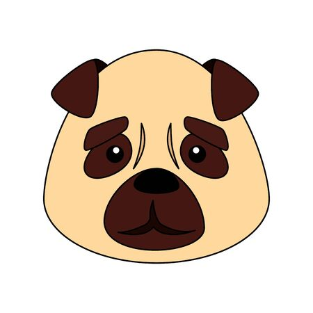 face of cute dog animal isolated icon vector illustration design 矢量图像