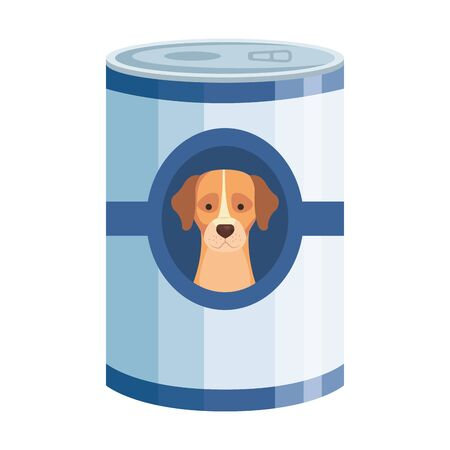 food for dog in can isolated icon vector illustration design