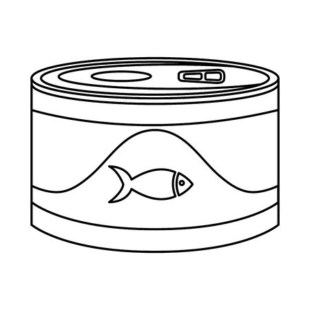 food for fish in can isolated icon vector illustration design  イラスト・ベクター素材