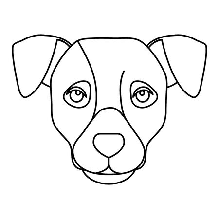 face of dog line style icon vector illustration design
