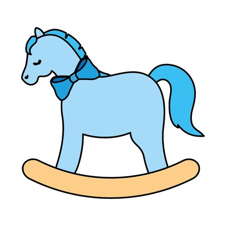 wooden horse toy isolated icon vector illustration design Vettoriali
