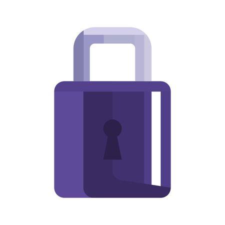 Padlock design of Security system warning protection danger web alert and safe theme Vector illustration