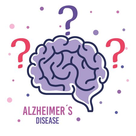 world alzheimer day with brain vector illustration design