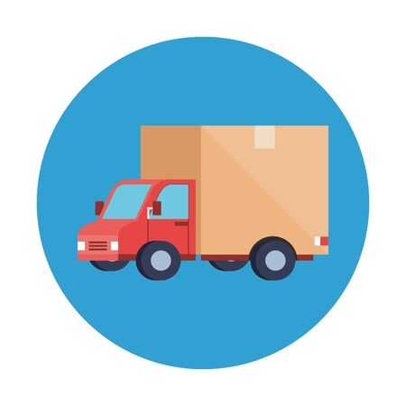 truck design, Delivery logistics transportation shipping service warehouse industry and global theme Vector illustration