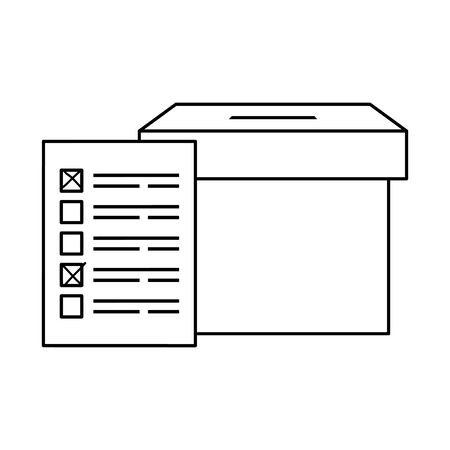 ballot box carton isolated icon vector illustration design Stock Illustratie