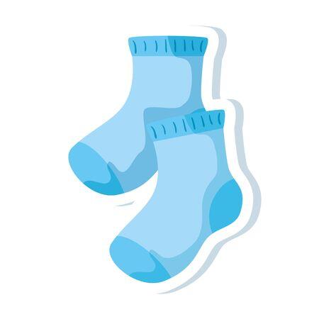 cute socks baby isolated icon vector illustration design Vecteurs