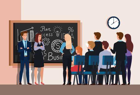 meeting brainstorm of business people vector illustration design Zdjęcie Seryjne - 141982927