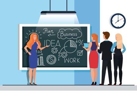 meeting brainstorm of business people vector illustration design Zdjęcie Seryjne - 142059416