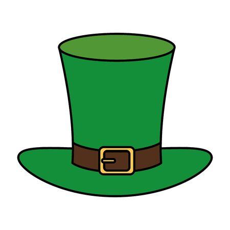 top hat leprechaun isolated icon vector illustration design icon