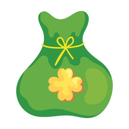 bag of money with clover isolated icon vector illustration design