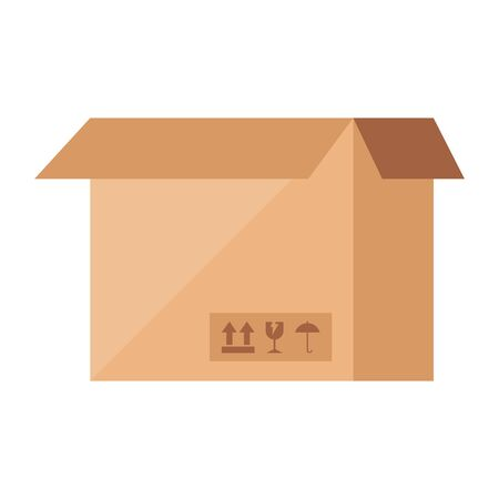 box package cargo isolated icon vector illustration design