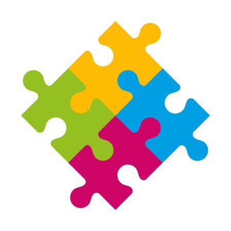 Ensemble de pièces de puzzle conception d'illustration vectorielle d'icônes Vecteurs