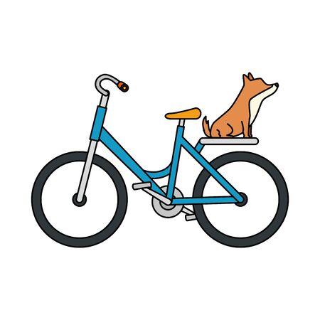 bike transport with dog isolated icon vector illustration design Ilustracje wektorowe