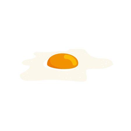 delicious egg fries healthy food icon vector illustration design