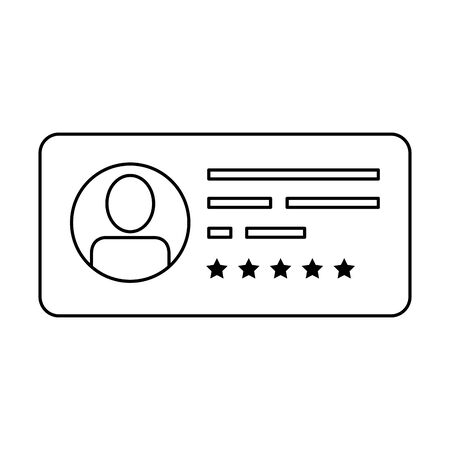 vote form with candidat isolated icon vector illustration design Vecteurs