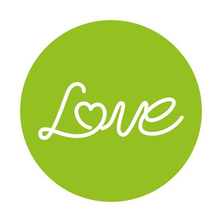 love label on green background vector illustration design
