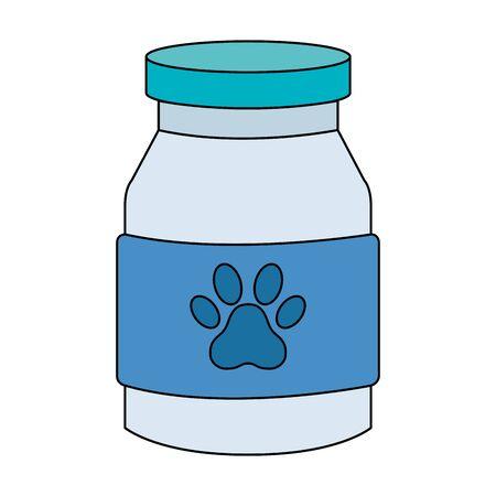 bottle dog medicine isolated icon vector illustration design