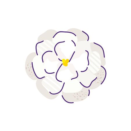 cute gardenia flower nature isolated icon vector illustration design Illustration
