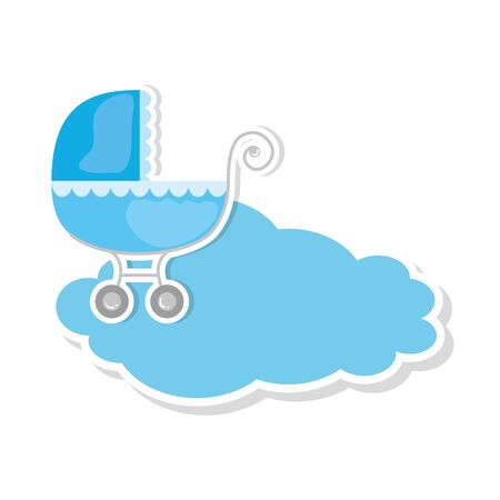 baby cart in cloud isolated icon vector illustration design Ilustracja