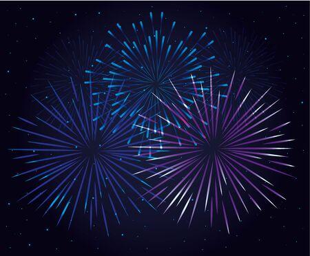 fireworks splash explosion background icon vector illustration design